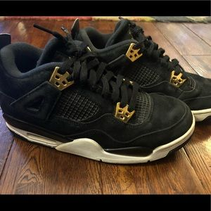 Air Jordan 4 Retro black and gold. Size 7 men's